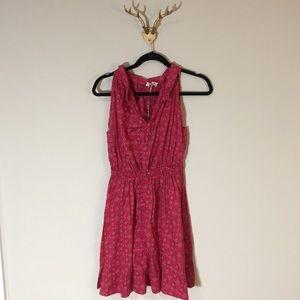 levi's red bandana print collared dress
